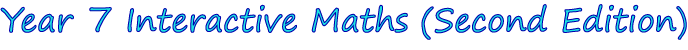 Year 7 Interactive Maths Software (Second Edition)
