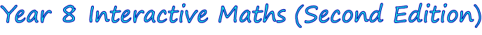 Year 8 Interactive Maths Software (Second Edition)