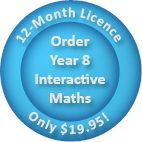 Order a 12-month Year 8 Interactive Maths software Homework Licence for only $19.95.