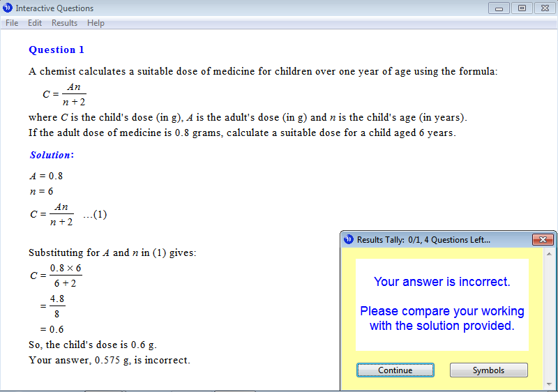 Solution for a question from Year 10 Interactive Maths, Chapter 2: Linear Equations and Inequalities, Exercise 46: Substitution.