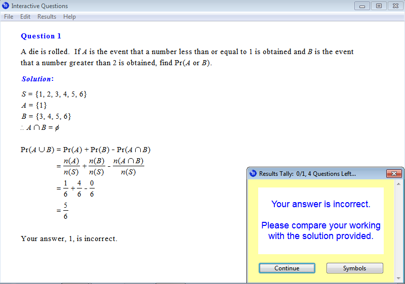 Solution for a question from Year 10 Interactive Maths, Chapter 5: Probability, Exercise 14: Addition Law of Probabilities.