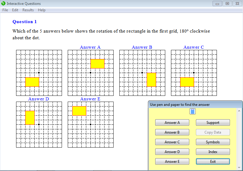 Question from Year 8 Interactive Maths, Chapter 10: Geometric Constructions, Exercise 6: Rotation.