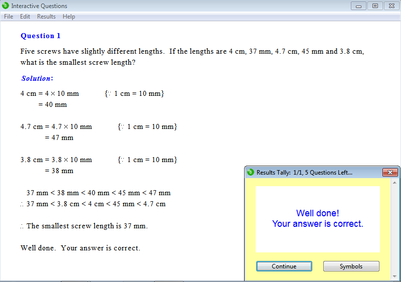Solution for a question from Year 8 Interactive Maths, Chapter 11: Length and Perimeter, Exercise 6: Word Problems.
