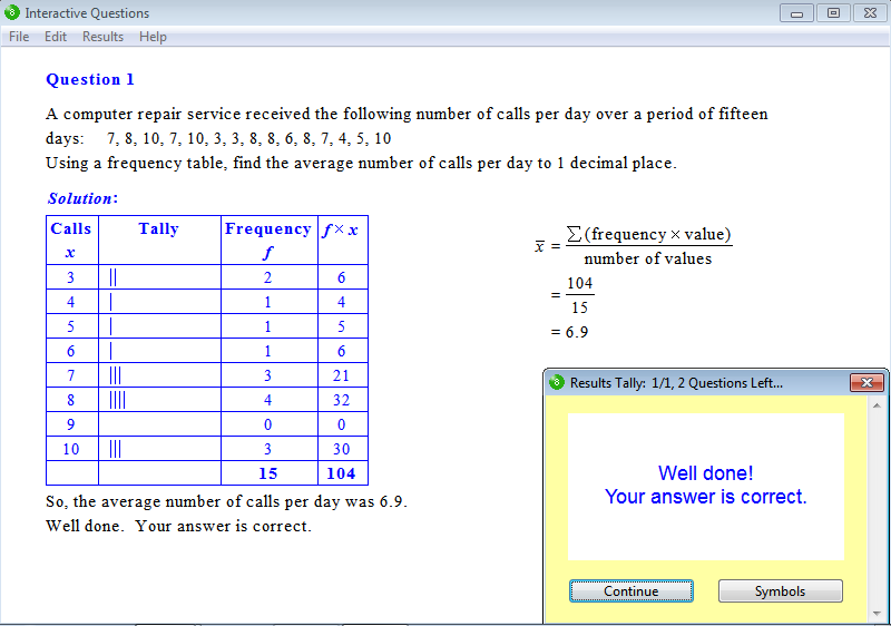 Solution for a question from Year 9 Interactive Maths, Chapter 17 ...