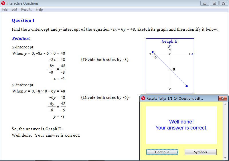 Solution for a question from Year 9 Interactive Maths, Chapter 4: Linear Graphs, Exercise 5: Sketch Graphs.