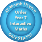 Order a 12-month Year 7 Interactive Maths software Homework Licence for only $19.95.